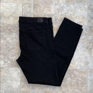 American Eagle Black jeans size 12 short